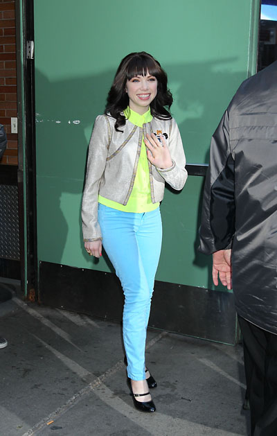 Carly Rae Jepsen Leaves Good Morning America in NYC