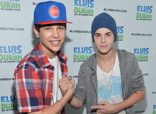 Austin Mahone (Finally) Meets Justin Bieber!