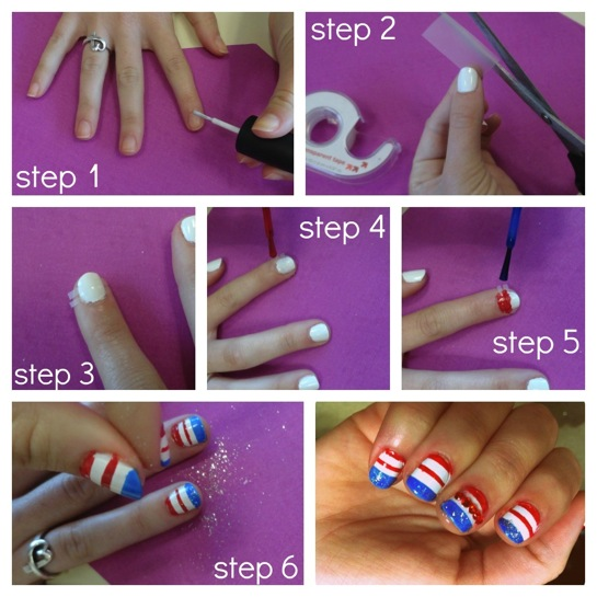 Fourth Of July Nail Art Tigerbeat
