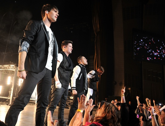 Big Time Rush With One Direction In Concert