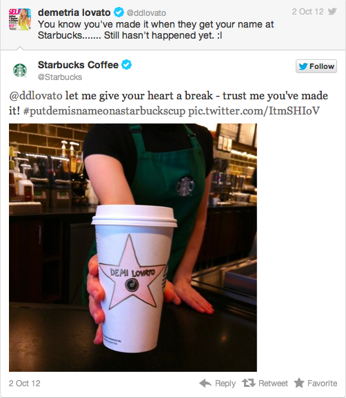 Starbucks Makes a Personalized Cup for Demi Lovato!