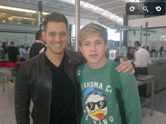 Niall Horan Meets Michael Buble!