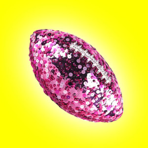 Win This Amazing Pink Glitter Football