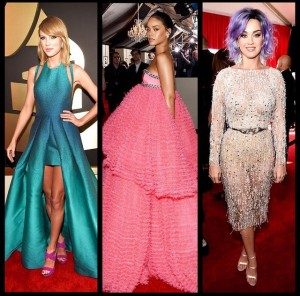 Whose look killed it on the red carpet at the Grammys? Taylor Swift, Rihanna, or Katy Perry?
