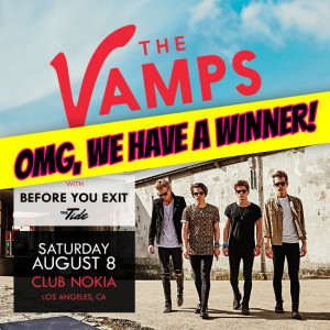 Tiger Beat's Winner to See The Vamps