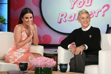Ellen Helps Lea Michele Find a New BF