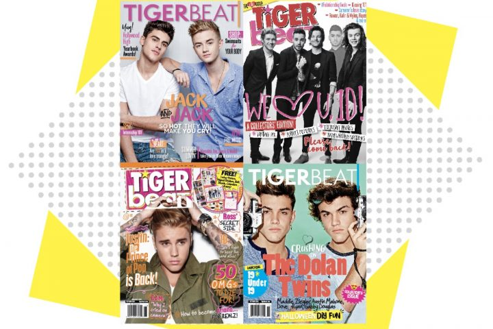 Which TigerBeat Magazine Cover Would You Want On a T-Shirt?