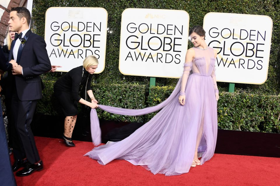 Hailee Steinfeld Lily Collins And More Slay The Golden Globes Red