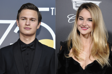 Ansel Elgort and Shailene Woodley Reunite at the Golden Globes