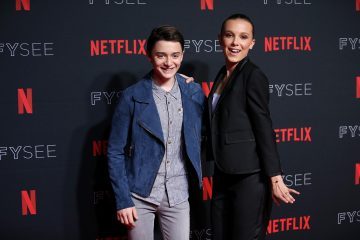 Millie Bobby  Brown and Noah Schnapp Have an Epic Dance Party at 2018 Netflix Emmy Nominee Toast