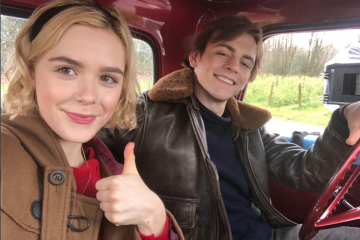 Ross Lynch And Kiernan Shipka Celebrate The End of 'CAOS' Season 1