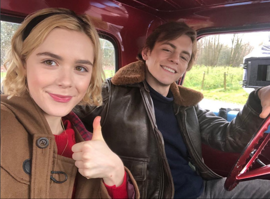 Kiernan Shipka and Ross Lynch Dish On 'CAOS' Holiday Special Saying 'It's Really Emotional'