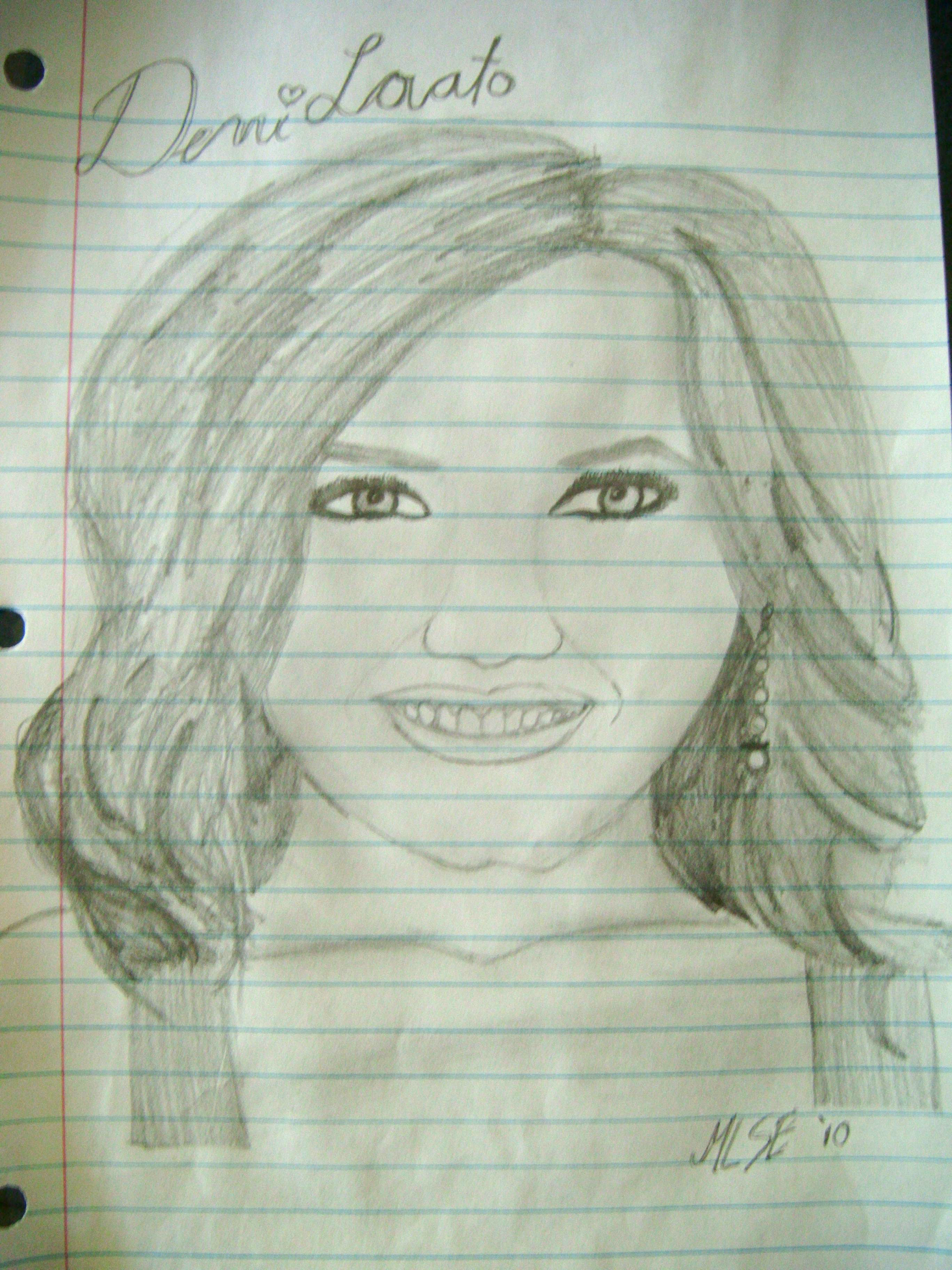 Maria's Drawing of Demi Lovato