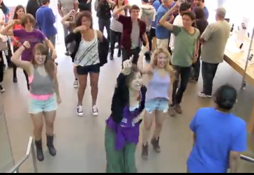WATCH: Lemonade Mouth Stars Hayley Kiyoko and Chris Brochu Flash Mob at the Apple Store!