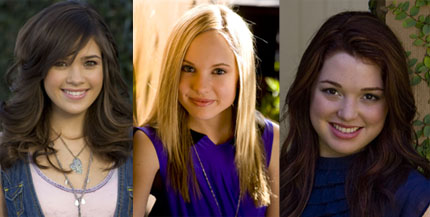 Meaghan Martin, Nicole Anderson and Jennifer Stone are the