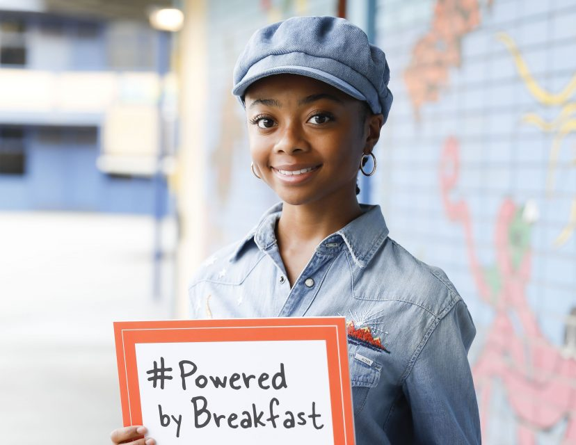 Skai Jackson Teams Up With No Kid Hungry for Powered by Breakfast Program