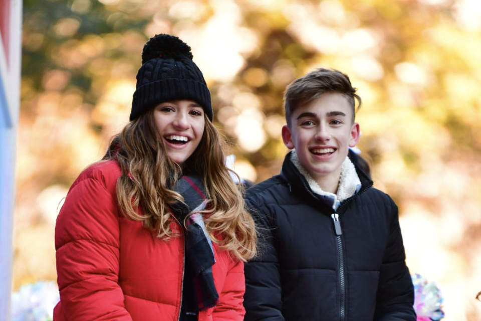 Johnny Orlando and Mackenzie Ziegler Stop by the Studio to Work on a Top-Secret Project
