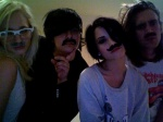 Demi and Her Facial Hair Friends