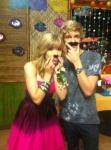Cody and Jennette Mustache'd on Set