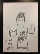 Liam drawing by Zayn